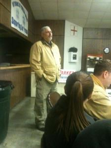 Bob Parker candidate for 8th District Representative addressed gun rights group SEMO 10 on Wed. February 6,2013