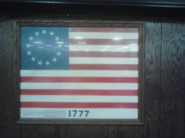 The American Flag of 1777.